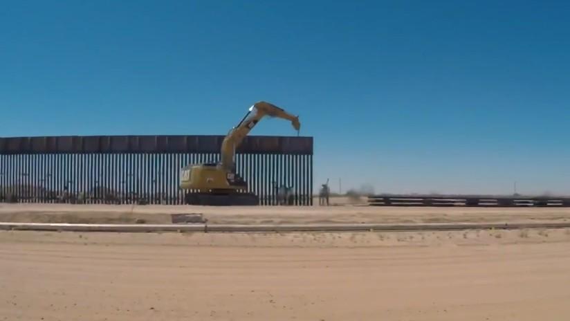 VIDEO: Patrulla Fronteriza de EE.UU. muestra las imágenes de casi 100 kilómetros del 'nuevo muro', captadas por un dron