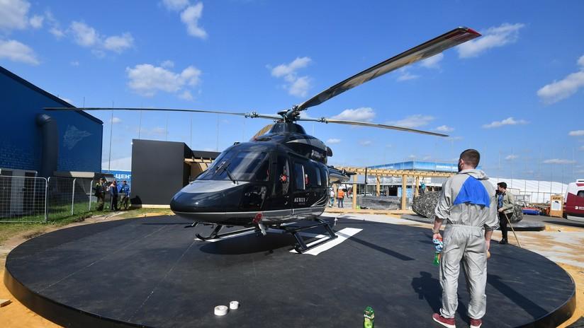 Rusia presenta un helicóptero del estilo de los coches presidenciales Aurus en MAKS-2019