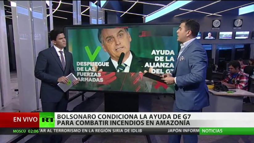 Bolsonaro condiciona la ayuda del G7 para combatir los incendios en la Amazonía