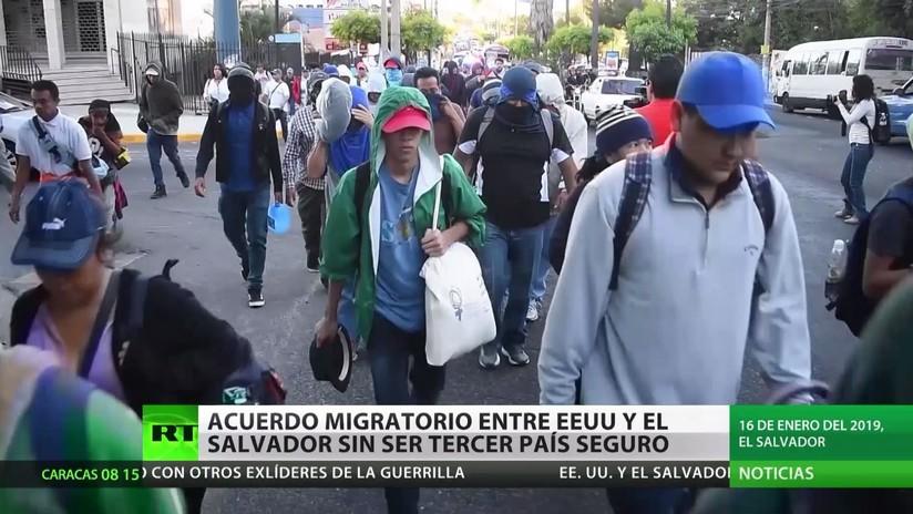 """EE.UU. y El Salvador pactan un acuerdo de cooperación en migración pero sin """"tercer país seguro"""""""