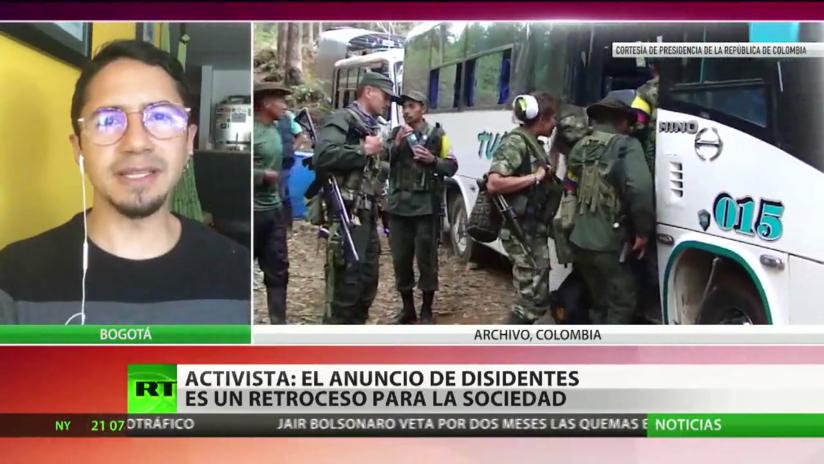 """Activista: El anuncio de los disidentes podría acabar """"fortaleciendo a sectores de la extrema derecha"""" en Colombia"""