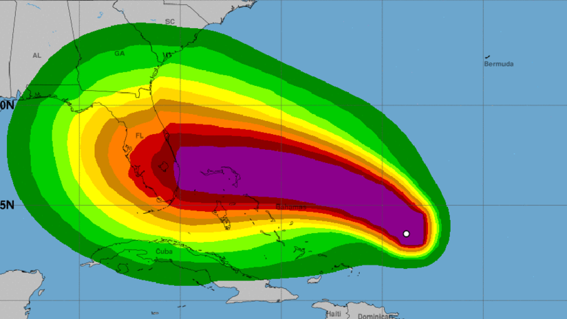 ¿Por qué es tan difícil pronosticar por dónde pasará el huracán Dorian?