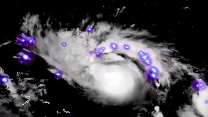 """VIDEO: Relámpagos del """"extremadamente peligroso"""" huracán Dorian vistos desde el espacio"""