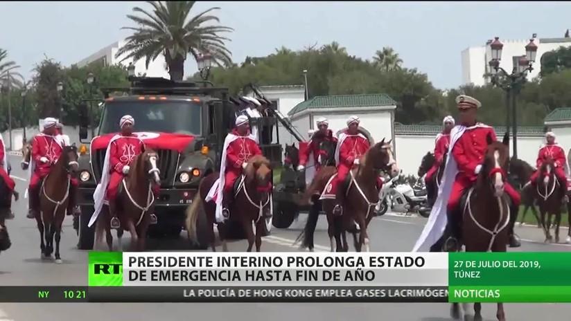 El presidente interino de Túnez prolonga el estado de emergencia en el país