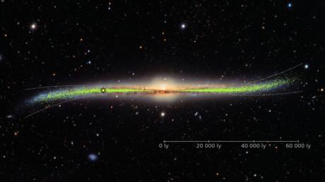 curvatura de la Vía Láctea