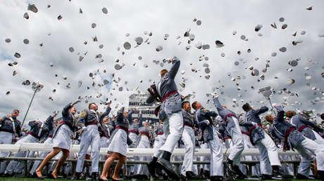 Graduados de la Academia Militar de EE.UU. en West Point, Nueva York, el 25 de mayo de 2019