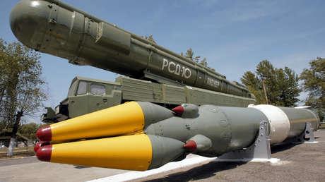 El sistema de misiles de alcance medio Pioner (SS-20) destruido por Rusia en el 2007 de conformidad con el tratado INF