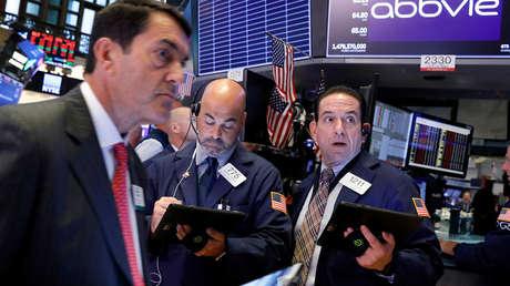 Inversores en la bolsa de Nueva York (EE.UU.), el 5 de agosto de 2019.