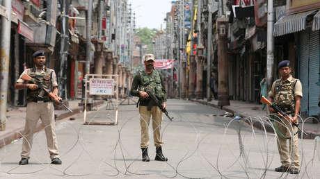 Personal militar de la India en Jammu, el 5 de agosto de 2019.