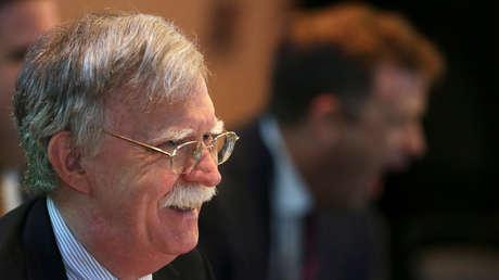 Bolton en una reunión para discutir sobre Venezuela, en Lima, Perú, 6 de agosto de 2019.