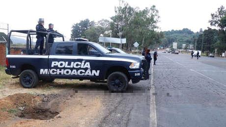 Operativo de seguridad en Uruapan, Michoacán, en México, 8 de agosto de 2019.