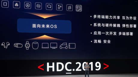 Conferencia anual de desarrolladores de Huawei en Dongguan, China, 9 de agosto de 2019.