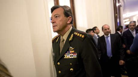El general Cesar Milani llega al Congreso para la inauguración del año legislativo en Buenos Aires, Argentina, 1 de marzo de 2015
