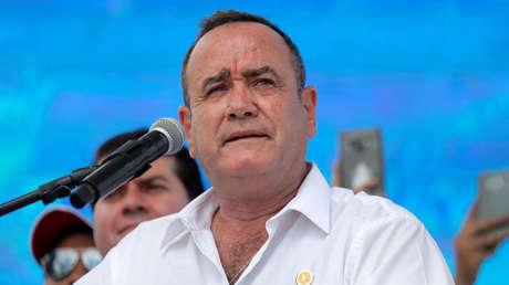 Giammattei antes de la segunda vuelta electoral en Ciudad de Guatemala, 4 de agosto de 2019.