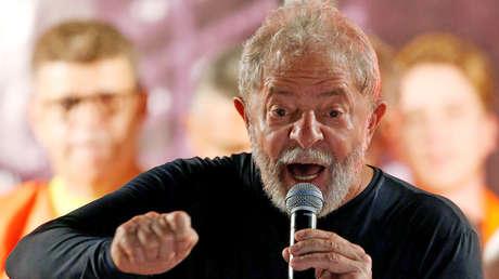 El expresidente de Brasil, Lula da Silva, en Curitiba, Brasil, el 28 de marzo de 2018.