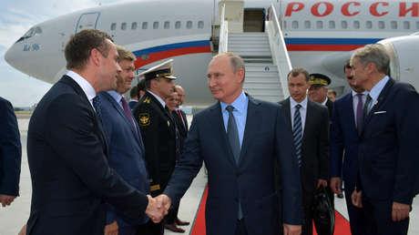 El presidente ruso, Vladímir Putin, a su llegada a Marsella, Francia, el 19 de agosto de 2019.