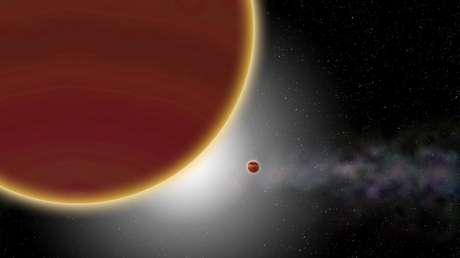Ilustración del sistema Beta Pictoris.