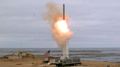 Lanzamiento de un misil de crucero desde la isla San Nicolás (California, EE.UU.), el 18 de agosto de 2019.
