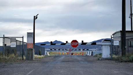 Entrada al Campo de Prueba y Entrenamiento de Nevada cerca del Área 51, el 22 de julio de 2019, 22 de julio de 2019