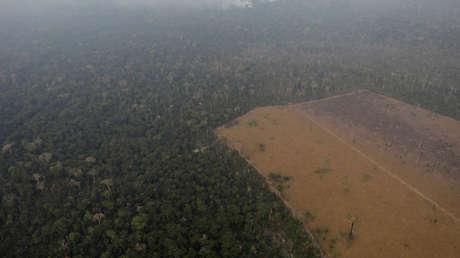 Incendio en la Amazonia, Porto Velho, Brasil, 21 de agoto de 2019.