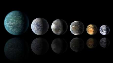 Seis mundos de agua del sistema planetario de Trappist-1, tres de los cuales se encuentran en una zona habitable respecto a su estrella