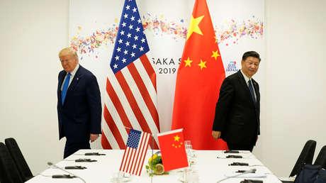 El presidente de EE.UU., Donald Trump, con su homólogo chino Xi Jinping.