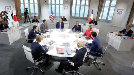 Reunión de líderes mundiales en Biarritz, Francia, el 25 de agosto de 2019.