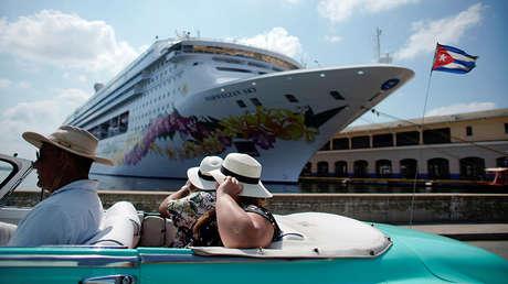 Turistas en La Habana, Cuba, 4 de mayo de 2016.