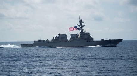 El destructor USS Wayne E. Meyer, de clase Arleigh Burke, en abril de 2017.