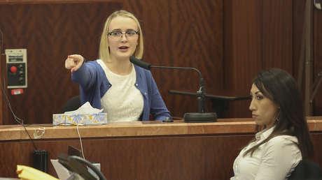 Cassidy Stay durante la sesión del juzgado en Houston, Texas, EE.UU., el 27 de agosto de 2019