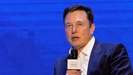 Elon Musk durante su debate con Jack Ma en Shanghái, China, el 29 de agosto del 2019.