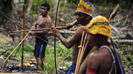 Indígenas amazónicos de la tribu Munduruku en Parracho (Brasil), en una imagen del 17 de enero de 2014