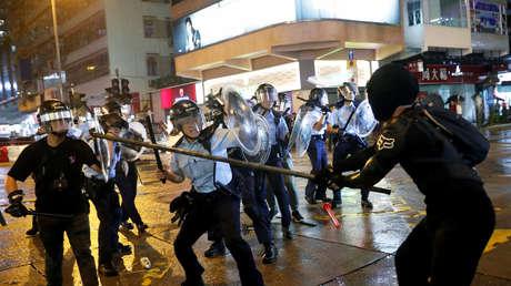 Los enfrentamientos entre la Policía y los manifestantes en Hong Kong, China, el 25 de agosto de 2019