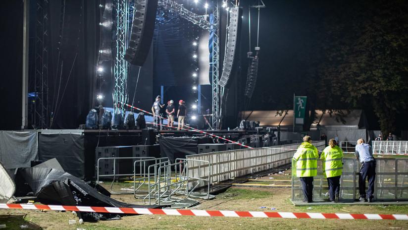 Al menos 28 heridos al caerse una enorme pantalla durante un concierto al aire libre en Alemania (FOTO, VIDEO)