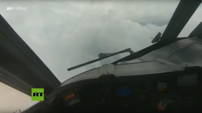VIDEO: Primeras imágenes desde dentro del huracán Dorian grabadas por un avión cazatormentas