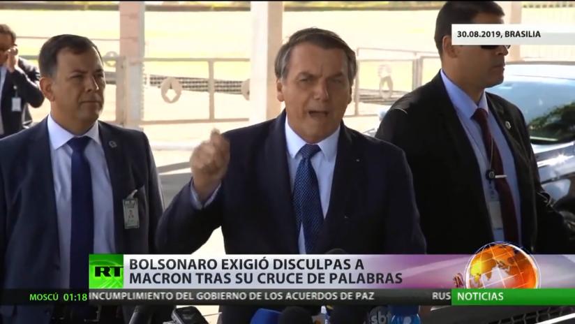 Bolsonaro exigió disculpas a Macron tras su cruce de palabras