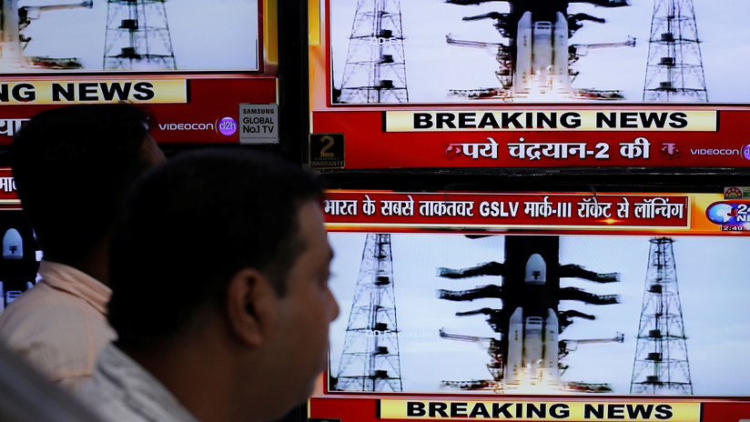 La nave espacial india Chandrayaan-2, lista para la separación de su módulo de alunizaje
