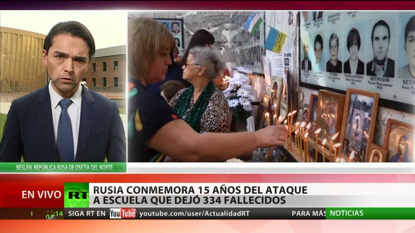Rusia conmemora los 15 años del ataque a una escuela en Beslán que dejó 334 muertos