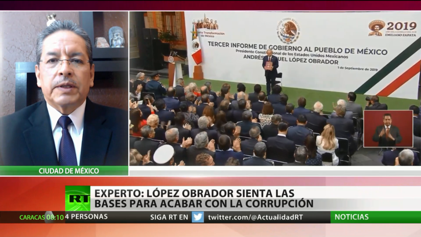 """Experto: López Obrador """"está sentando las bases para combatir la corrupción"""""""