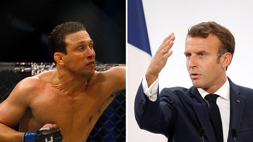 """VIDEO: Un exluchador de MMA brasileño amenaza con estrangular a Macron y llama """"dragón"""" a su esposa"""