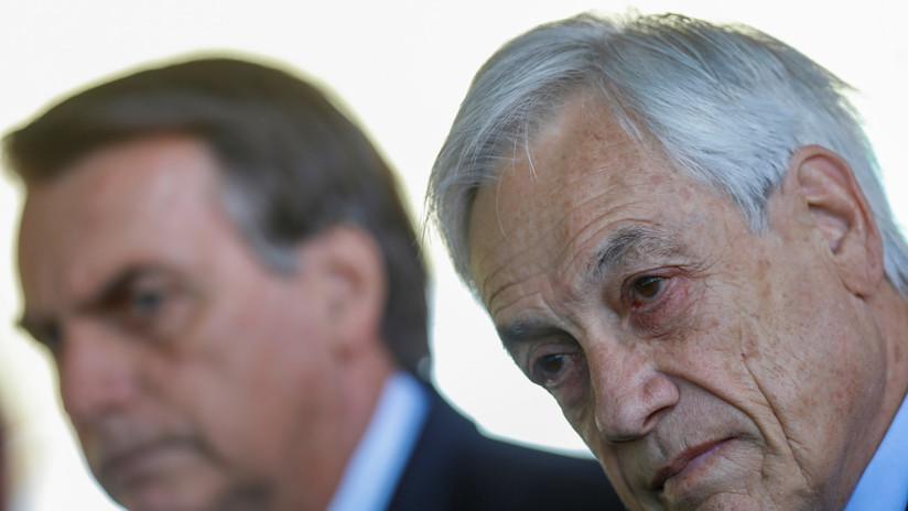 """""""No comparto en absoluto la alusión"""": Piñera rechaza declaración de Bolsonaro sobre el padre de Bachelet"""