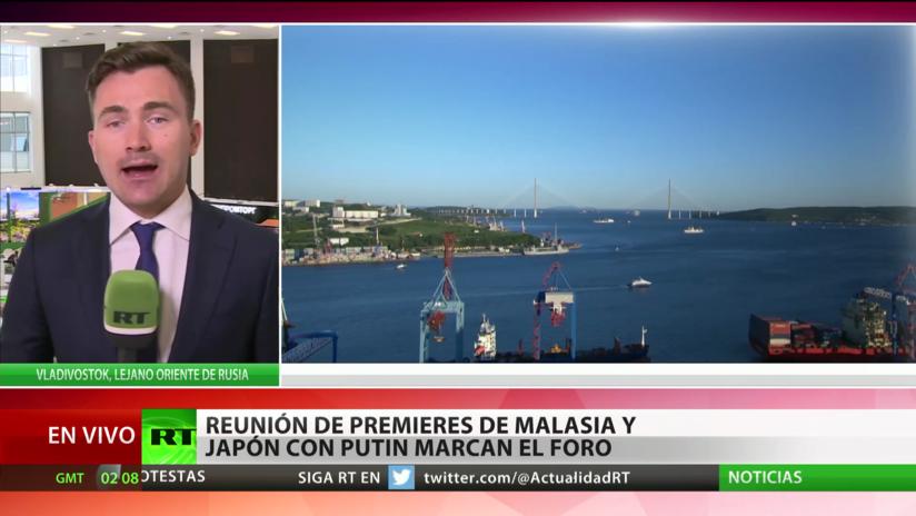 Putin se reunirá con los primeros ministros de Malasia y Japón en el Foro Económico Oriental de Valdivostok