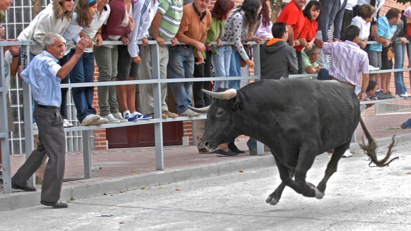 Un anciano muere tras ser corneado por una vaca durante un popular encierro en España (VIDEO)