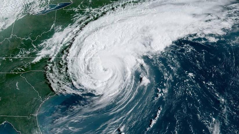 El huracán Dorian toca tierra en las costas de Carolina del Norte