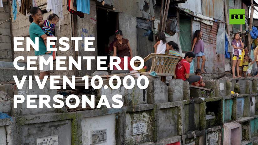 10.000 personas viven en un cementerio de Filipinas