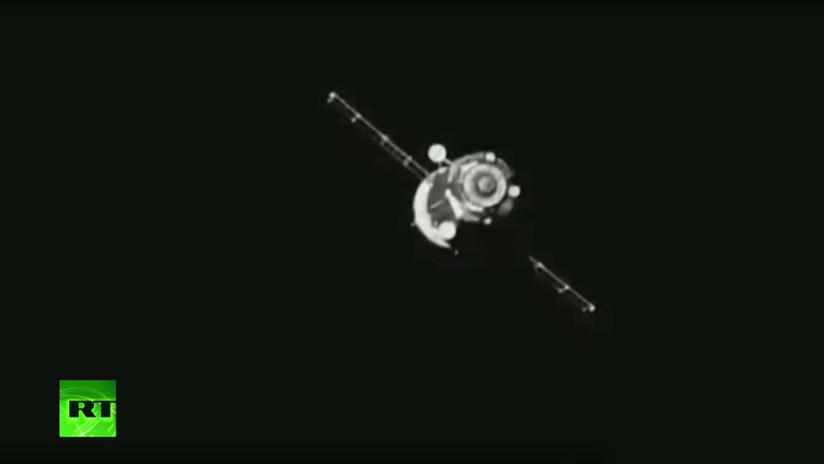 VIDEO: Se desacopla de la EEI la nave espacial Soyuz MS-14, con el robot FEDOR a bordo