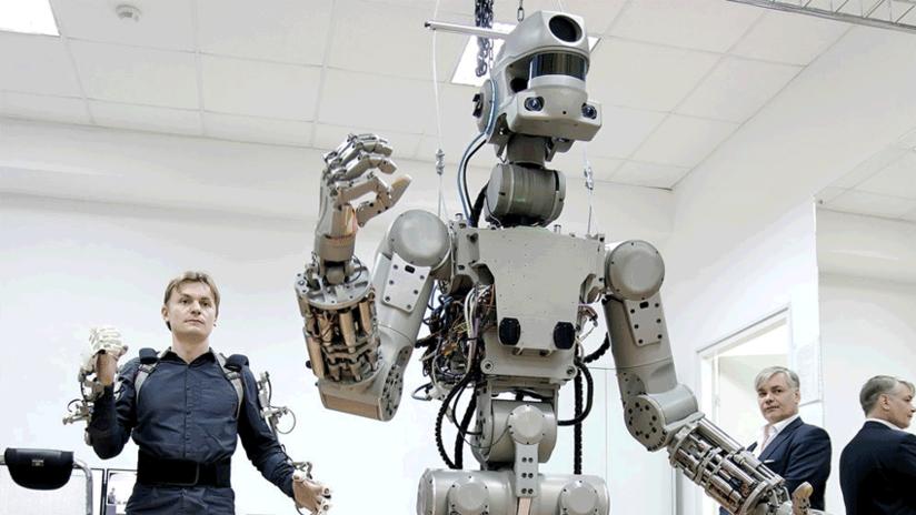 El robot humanoide ruso FEDOR regresa a la Tierra tras su breve estancia en la Estación Espacial Internacional
