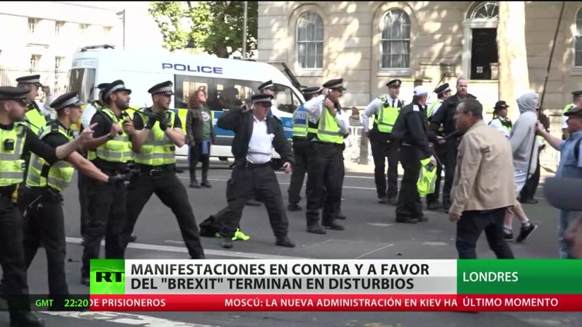 Londres: Manifestaciones a favor y en contra del Brexit terminan en disturbios con la Policía