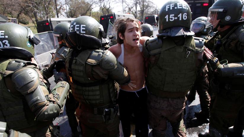 VIDEO: Disturbios en Santiago de Chile tras la marcha en memoria de las víctimas de la dictadura