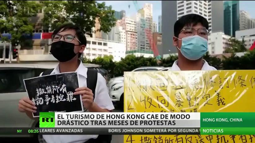 El turismo sufre una caída del 40 % en Hong Kong debido a las protestas